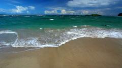 Saint Lucia Beach Landscape Stock Footage