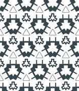 Stock Illustration of dark monochrome color angular abstract geometric seamless pattern.