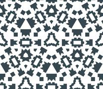 dark monochrome color angular abstract geometric seamless pattern. - stock illustration