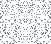 Dark monochrome color angular outline abstract geometric seamless pattern. Stock Illustration