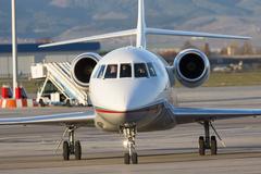 Bulgaria's government Falcon airplane - stock photo