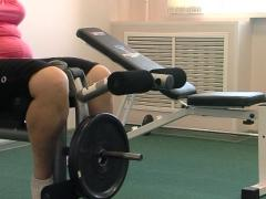 Sports in the gym , close-up Stock Footage