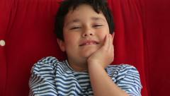 Child smiling to camera Stock Footage