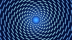 Rotating Lines of Light Animation - Loop Blue Stock Footage