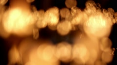 candle lights fire blured - stock footage