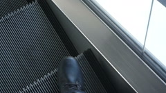 On escalator riding Stock Footage