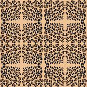 leopard print pattern skin. - stock illustration