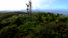 Puerto Rico Rainforest Landscape Stock Footage