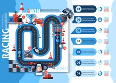 Stock Illustration of Racing Infographics Set