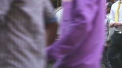 Indian man in front of a street food stand in Mumbai. Stock Footage