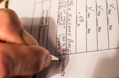 Preparing taxes - stock photo