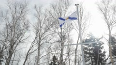Nova Scotia Canadian Provincial Flag being lowered Stock Footage