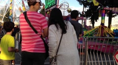 Stock Video Footage of People having fun at the West Coast Amusements Carnival