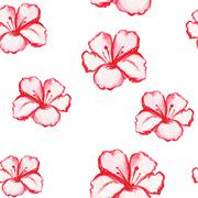 Stock Illustration of Patern seamless wallpaper with flowers