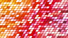 Broadcast Twinkling Slant Hi-Tech Cubes, Multi Color, Abstract, Loopable, HD Stock Footage