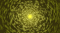 Rotating Lines of Light Animation - Loop Yellow Stock Footage