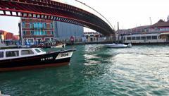 4K POV view of the Constitution Bridge, Venice Stock Footage