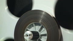Film spool turning Stock Footage