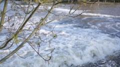 River Dam water rushing Stock Footage