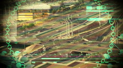 computer looking at traffic espionage - stock footage