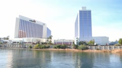 Riverside Casinos Laughlin Nevada Stock Footage