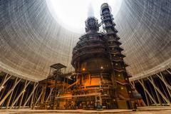Thermal power plant interior Stock Photos