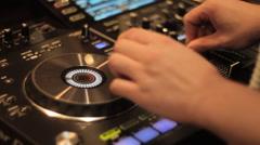 DJ Music Producer Turntable Stock Footage