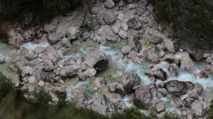 Timelapse - Vertical view of a rocky stream Stock Footage
