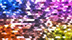 Broadcast Twinkling Squared Hi-Tech Triangles, Multi Color, Abstract, Loop, HD Stock Footage