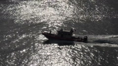 U.S. Coast Guard Patrol Boat - stock footage