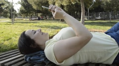 Resting in the park Stock Footage