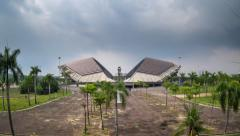 Clouds time lapse at a stadium in Shah Alam, Malaysia. Stock Footage