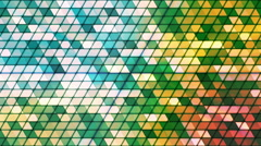 Broadcast Twinkling Cubic Hi-Tech Triangles, Green, Abstract, Loopable, HD Stock Footage