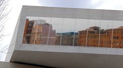 Windows of the National Museum of Art of the XXI century (MAXXI). Rome, Italy. Stock Footage