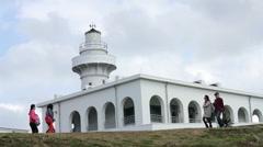 Kenting Oluanpi Lighthouse. HD Stock Footage