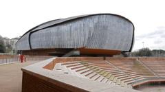 Auditorium Parco della Musica Rome, Italy. 4K Stock Footage