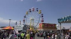 4K Ferris Wheel, Amusement park, fairgrounds Arkistovideo