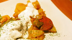 Food with Sour Cream - Close Up Stock Footage