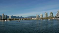 Vancouver waterfront wide shot of Science World - stock footage
