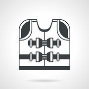 Lifesaver black vector icon Stock Illustration