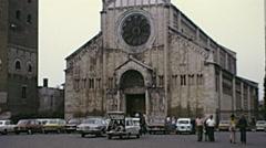 Verona 1974: Basilica of San Zeno Stock Footage