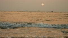 4K Shot of Sunset on the beach in Goa 06 Stock Footage