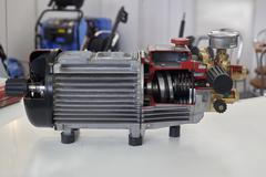 Opened electric motor - stock photo