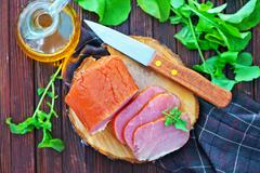 smoked meat - stock photo