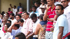 People watching performed horses at The Mauritius Turf Club Stock Footage