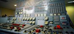 Control room of an old power generation plant Kuvituskuvat