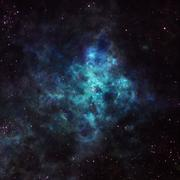 Nebula in outer space Stock Photos