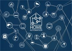 Smart home automation vector background. Stock Illustration