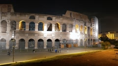 Colosseum. Rome by night. Italy Stock Footage
