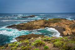 View of a cove at Point Lobos State Natural Reserve, in Carmel, California. - stock photo